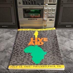 Live Aid Concert Program 1985
